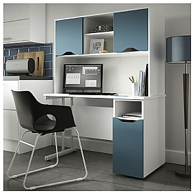 NEXT DAY Create Kaleidoscope Pedestal Desks With Open Storage
