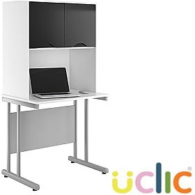 NEXT DAY Create Reflections Desks With Closed Storage