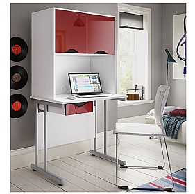 NEXT DAY Create Reflections Single Drawer Desks With Closed Storage