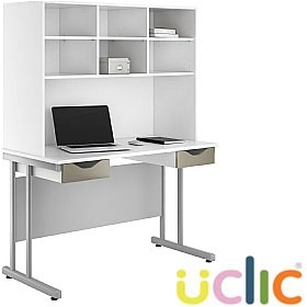 NEXT DAY Create Reflections Double Drawer Desks With Open Storage