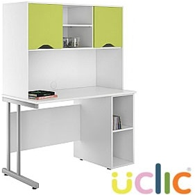 NEXT DAY Create Kaleidoscope Open Pedestal Desk With Closed Storage