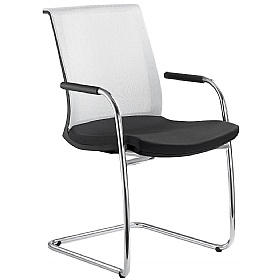 Lyra Net Fabric & Mesh Cantilever Conference Chair £323 -