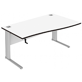 Elite Optima Plus Height Adjustable Single Wave Desks £764 -