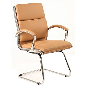 Formosa Enviro Leather Cantilever Chair Tan £229 -