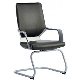 Profi Leather Faced Cantilever Office Chair Black £201 -