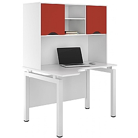 NEXT DAY Engage Kaleidoscope Corner Desks With Closed Storage