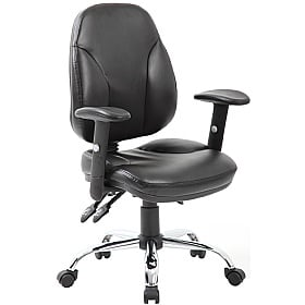 Select Ergonomic Leather Operator Chair £101 -