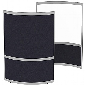 Elite Huddle Pod Curved Screen With Whiteboard Inner Panel £978 -