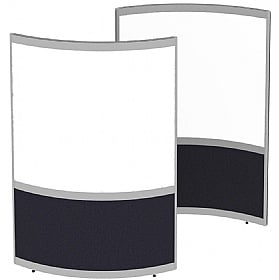 Elite Huddle Pod Curved Screen With Whiteboard Panels