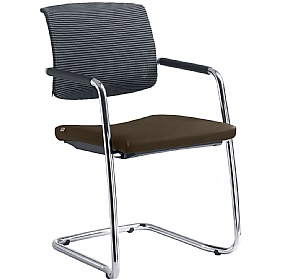 Zeta Leather & Mesh Cantilever Conference Chair £296 -