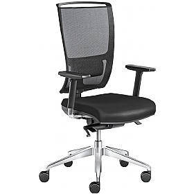 Lyra Net Leather & Mesh Operator Chairs £371 -