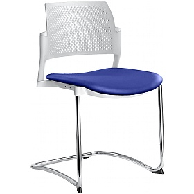 Dream+ Leather Stackable Cantilever Chairs £169 -