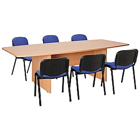 Commerce II Barrel Shaped Boardroom Table