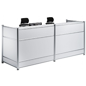 White Lumina Gloss Reception Desk £843 -