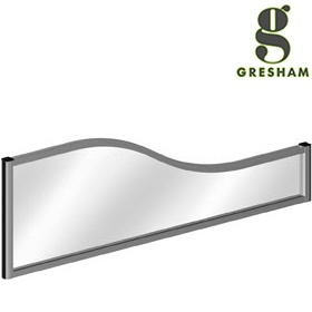 Gresham Mesa Acrylic Wave Desktop Screens £265 -