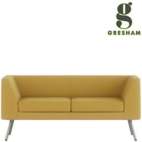 Gresham Alvier Steel Leg 2 Seat Sofa With Arms £1104 -