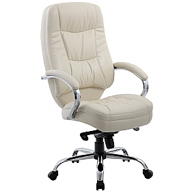 Rimini Cream Leather Manager Chair £130 -