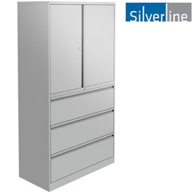 Silverline Combi:Store Cupboard & Drawer Combination Units £685 -