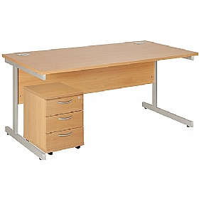 NEXT DAY Commerce II Rectangular Desks With Mobile Pedestal