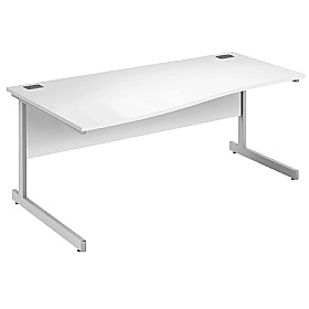 Commerce II White Wave Office Desks £126 -