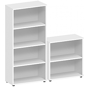 Commerce II White Office Bookcases £87 -