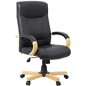 Farnham Executive Black Leather Manager Chair £123 -