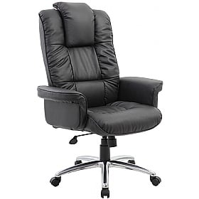 Athens Executive Leather Faced Office Armchair £177 -