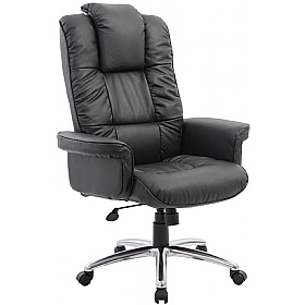 Athens Executive Leather Faced Office Armchair £169 -