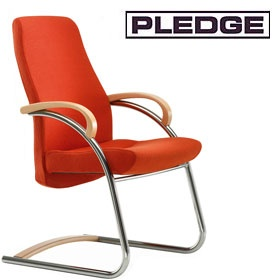 Pledge Zante Medium Back Visitor Chair with Wooden Arms £332 -