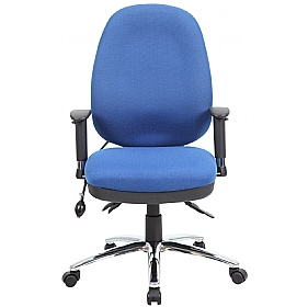 Deluxe Air Lumbar - Large Fully Loaded Operator Chair With Posture Sprung Seat