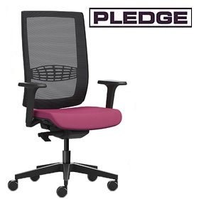 Pledge Kind Mesh Back Task Chair With Height Adjustable Arms £274 -