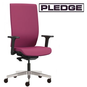 Pledge Kind Full Back Executive Chair With Height Adjustable Arms £437 -