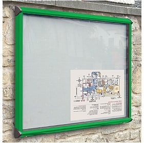 Coloured Frame Exterior Shield Showcases £166 -
