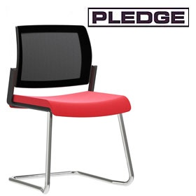 Pledge Kind Mesh Back Cantilever Conference Chair £169 -