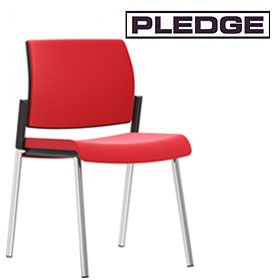 Pledge Kind Upholstered 4 Leg Conference Chair £143 -