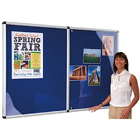 Shield Resist-A-Flame Aluminium Frame Tamperproof Noticeboards