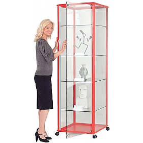 Shield Tower Display Cabinet