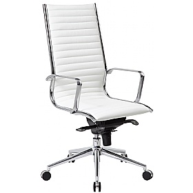 Stupendous Abbey High Back White Leather Office Chair Andrewgaddart Wooden Chair Designs For Living Room Andrewgaddartcom