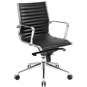 Abbey Medium Back Leather Office Chairs £149 -