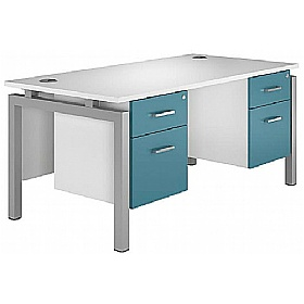 Kaleidoscope Rectangular Double Bench Desks With Fixed Pedestal £459 -