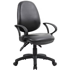Comfort 3-Lever Leather Operator Chairs