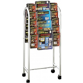 Literature Trolley 20 x Third A4 and 8 x A4 Pockets £154 -