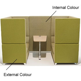 Sven X-Range High Back Booths With Table £4149 -