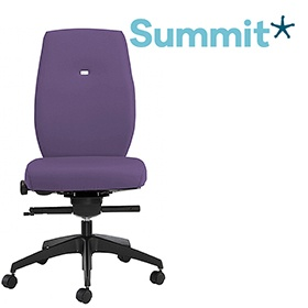Summit Horizon Fabric Task Chair With Black Outer £288 -