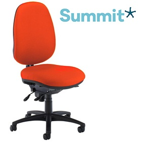Summit Ergonomic Task 24 Hour Rounded Back Operator Chair £274 -