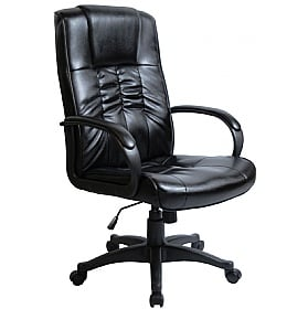 Turin Leather Faced Manager Chair £64 -