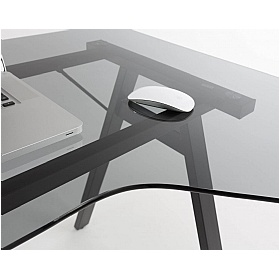 Arctic Ergo Glass Computer Desk