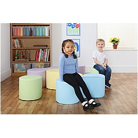 Tessel 9 Magnetic Linking Soft Seating Pastel Colours £0 -