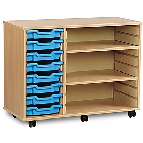 8 Tray Shallow Storage Unit With 2 Adjustable Shelves £0 -