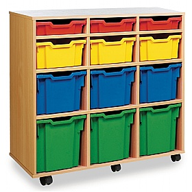 12 Tray Variety Mobile Storage £0 -